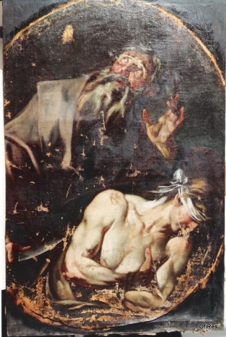2. Il sacrificio di Isacco - risultato dopo la pulitura