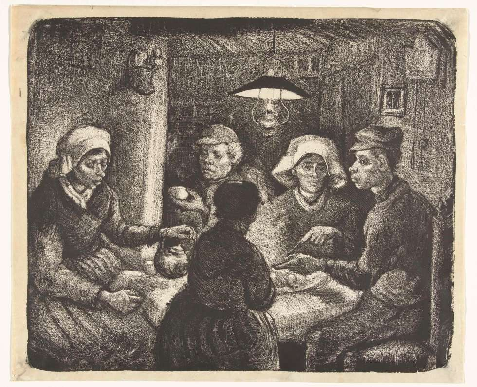 The_Potato_Eaters_-_Lithography_by_Vincent_van_Gogh
