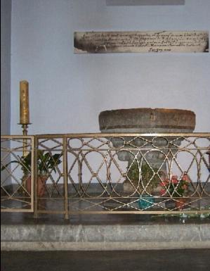 Soubirous fonte battesimale