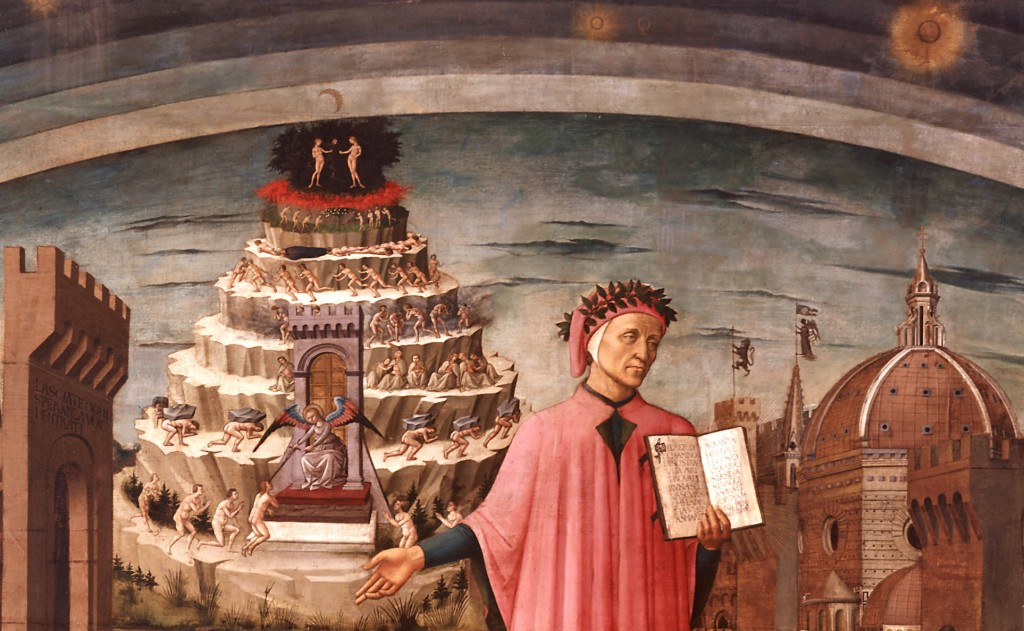 La Divina Commedia illumina Firenze Domenico di Michelino (affresco - 1465)