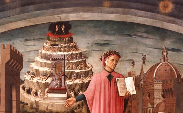 La Divina Commedia illumina Firenze Domenico di Michelino (affresco - 1465)
