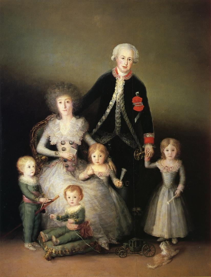 1788 - I Duchi Di Osuna Con I Figli