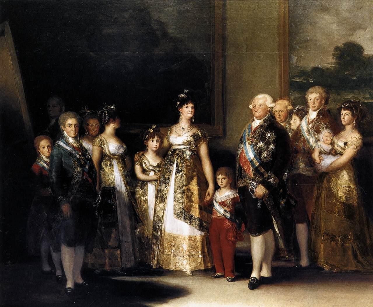 1800-1801 - Carlo IV E La Sua Famiglia