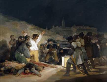 1814 - Il 3 maggio 1808_ Fucilazioni Alla Montagna Del Principe Pio