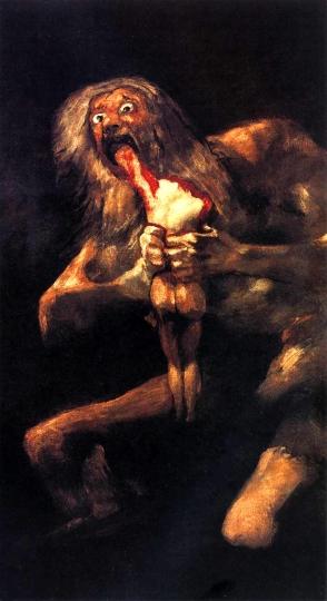 1821-1823 - Le Pitture Nere - Crono Divora Un Figlio